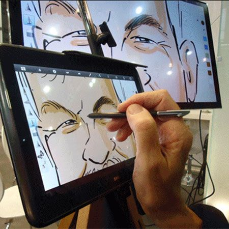 Add a Digital Caricature Artist to the Mix