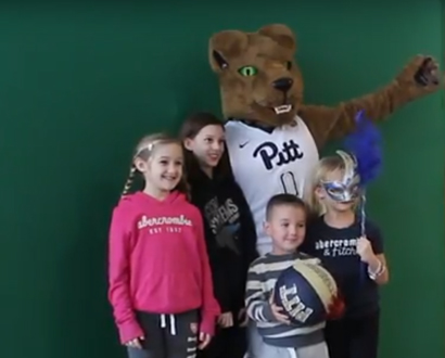 Pitt Lion and Kids