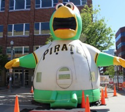 Pittsburgh Pirate Parrot Moon Bounce